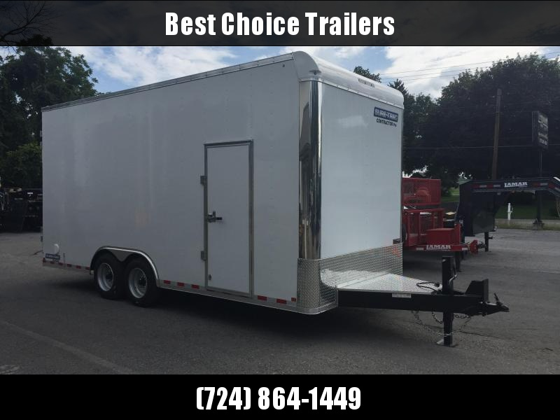 "2020 Sure-Trac 8.5x20' Enclosed Contractor Pro 16000# GVW * GEOPROBE TRAILER * DESIGNED FOR HAULING SKIDSTEER OR SIMILAR INSIDE * 8K AXLE UPGRADE * TORSION * STAND UP RAMPS * PLANK FLOOR * 17.5"" RUBBER"