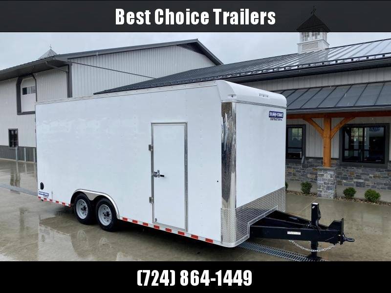 """**ON ORDER **  2022 Sure-Trac 8.5x20' Enclosed Contractor Pro 16000# GVW * GEOPROBE TRAILER * DESIGNED FOR HAULING SKIDSTEER OR SIMILAR INSIDE * 8K AXLE UPGRADE * TORSION * STAND UP RAMPS * PLANK FLOOR * 17.5"""" RUBBER * BACKUP LIGHTS * +18"""" HEIGHT"""