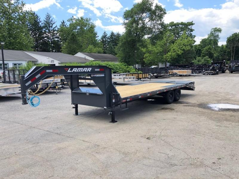 2020 Lamar Trailers 102x24' Gooseneck Deckover Trailer 14000# GVW * FULL WIDTH RAMPS * FRONT TOOLBOX * DUAL JACKS * CHARCOAL