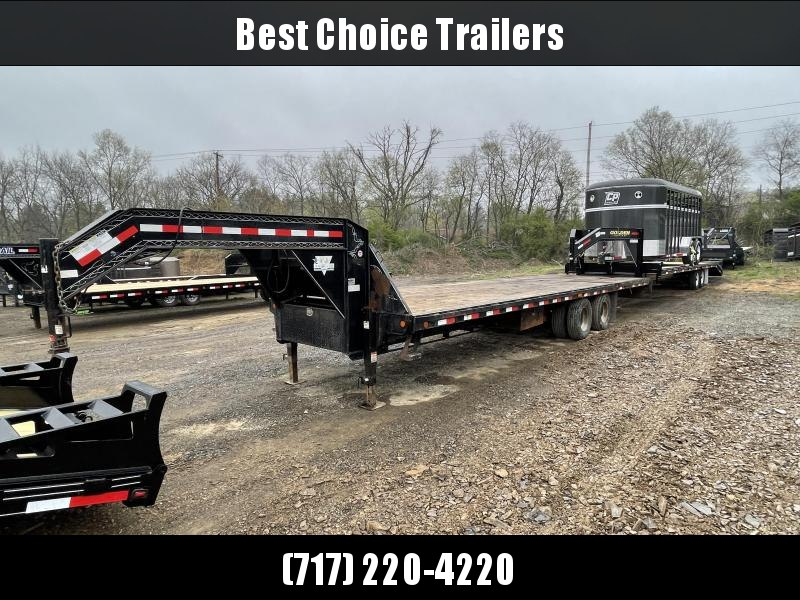 USED 2007 PJ Trailers 102x30' Gooseneck Deckover Hydraulic Dovetail Trailer 22000# GVW * HYDRAULIC DOVETAIL * WINCH * DEXTER'S