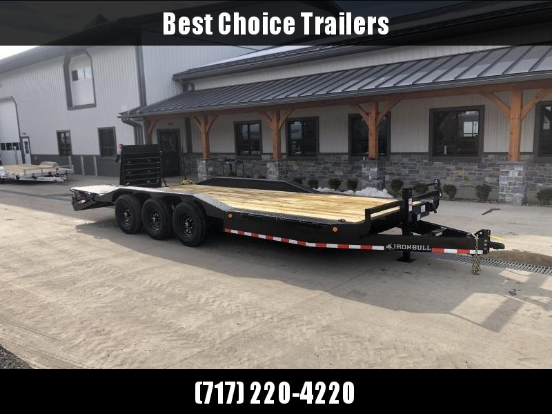 """2022 Ironbull 102x24' Equipment Trailer 21000# GVW * TRIPLE AXLE * FULL WIDTH RAMPS * 102"""" DECK * DRIVE OVER FENDERS * 8"""" FRAME UPGRADE * CLEARANCE"""