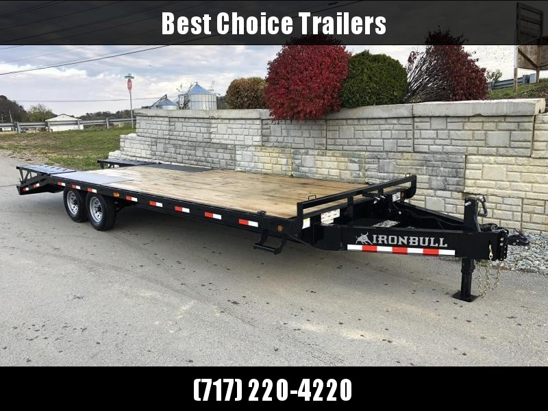 2022 Ironbull 102x25' Beavertail Deckover 21000# GVW * TRIPLE AXLE * A-FRAME TOOLBOX * DUAL JACKS * FULL WIDTH RAMPS * I-BEAM FRAME * RUBRAIL/STAKE POCKETS/PIPE SPOOLS/D-RINGS * CHAIN TRAY * TUBE SIDE RAIL * DEXTER'S * IRONCLAD WARRANTY
