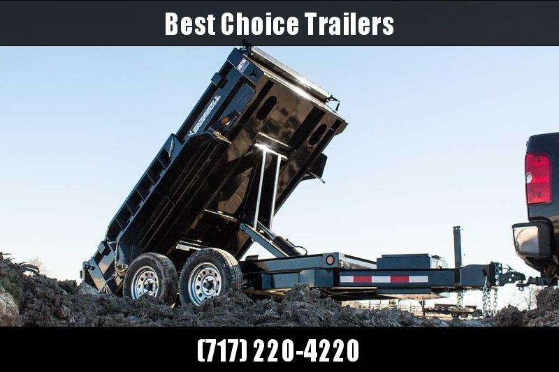 USED 2018 Iron Bull 5x10' Dump trailer 7000# GVW DTB6010032 * SCISSOR HOIST * TARP KIT * RAMPS * I-BEAM FRAME #LIL BEAST