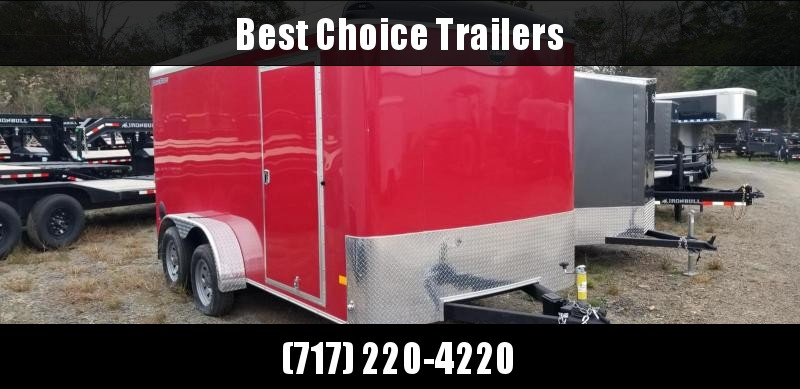 "2021 Wells Cargo 7x14' Road Force Enclosed Cargo Trailer 7000# GVW * RED EXTERIOR * RAMP DOOR * ROUND TOP * SCREWLESS .030 EXTERIOR * 6'6"" HEIGHT * TUBE STUDS * 1 PC ROOF * 16"" O.C. WALLS/FLOOR * RV DOOR * ARMOR GUARD * BULLET LED'S * CLEARANCE"