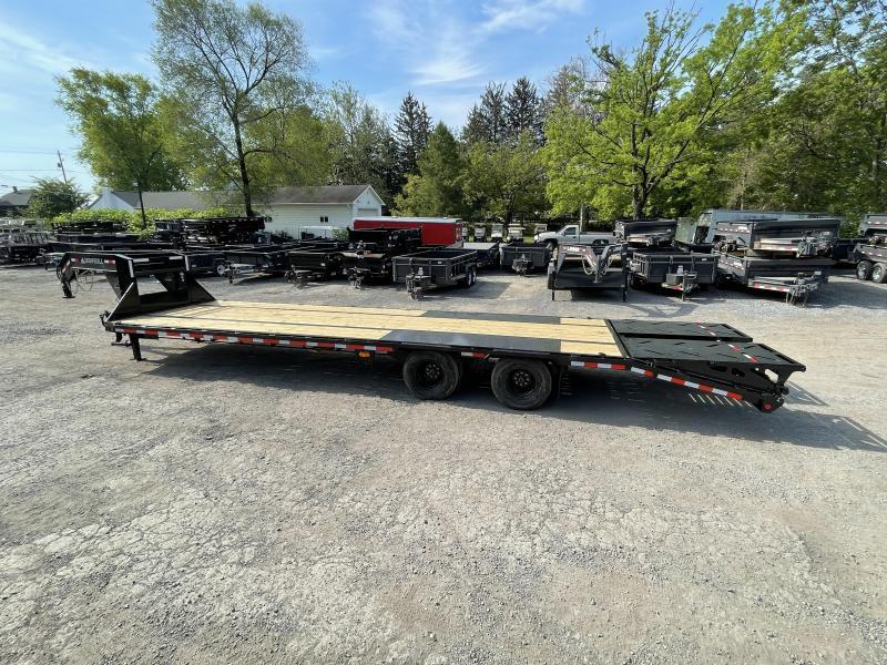 2022 Ironbull 102x40' Gooseneck Beavertail Deckover Trailer 24000# GVW * DEXTER 12K AXLES * HDSS SUSPENSION * WINCH PLATE IN NECK * STRAIGHT DECK * 14-PLY TIRE UPGRADE + MATCHING SPARE * UNDER FRAME BRIDGE * TORQUE TUBE * RUBRAIL/STAKE POCKETS/PIPE SPOOLS
