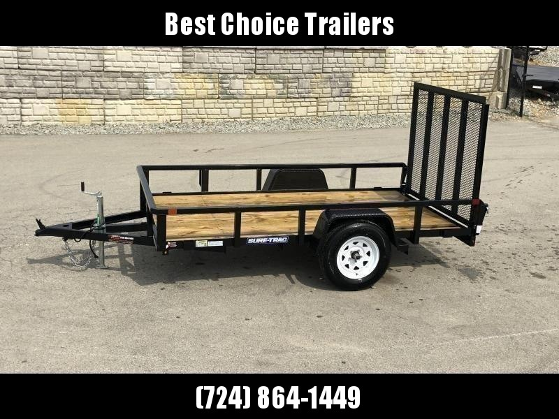 """2021 Sure-Trac 5x8' Tube Top Utility Landscape Trailer 2990# GVW * 2"""" TUBE TOP RAIL * 2X2"""" TUBE GATE C/M + SPRING ASSIST + FOLD FLAT * TOOLESS GATE REMOVAL * SPARE MOUNT * PROTECTED WIRING * SET BACK JACK * TRIPLE TUBE TONGUE * STAKE POCKETS * BULLET LED'"""