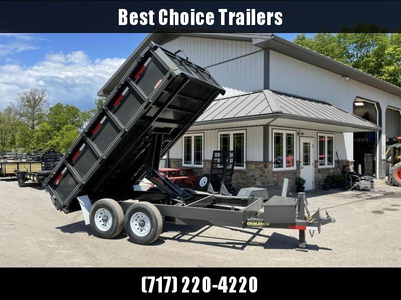 "2021 Corn Pro 7x14' Deckover Dump Trailer 14000# GVW * UNDERMOUNT RAMPS * GREY * RUNNING BOARDS * URETHANE PAINT * OVERSIZE 6"" SCISSOR * 7GA FLOOR * 8"" FRAME * CLEARANCE"