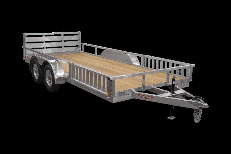 2021 Sure Trac 7x16' Aluminum ATV Utility Landscape Trailer 7000# GVW * ATV RAMPS * ALUMINUM WHEELS * BI-FOLD GATE * SIDE LOAD RAMPS