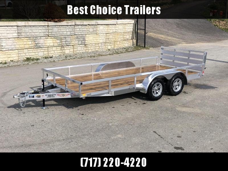 2020 Sure Trac 7x14' Tube Top Aluminum Utility Landscape Trailer 7000# GVW * ALUMINUM WHEELS * BI-FOLD GATE