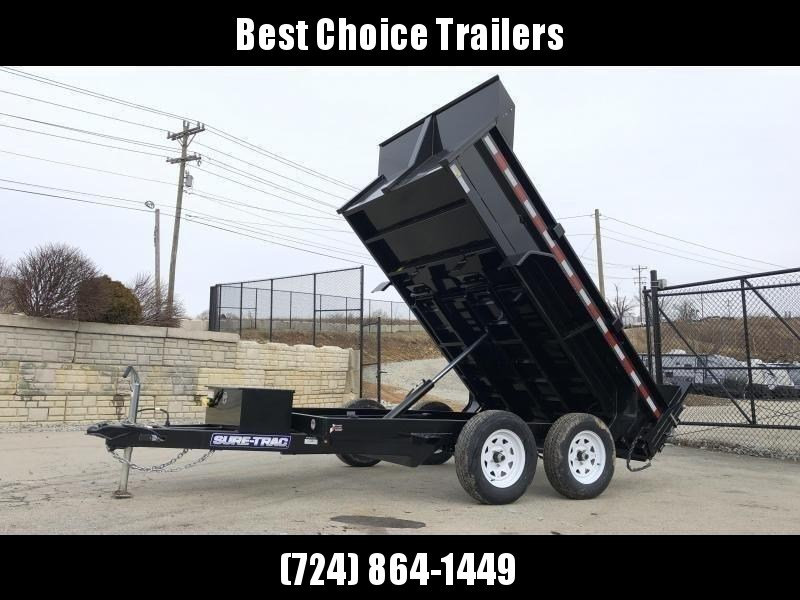 2021 Sure-Trac 6x10' Dump Trailer 7000# GVW * UNDERMOUNT RAMPS * COMBO GATE * FRONT/REAR BULKHEAD * INTEGRATED KEYWAY * SPARE MOUNT * TARP PREP * D-RINGS * HD FENDERS * POWER UP/ DOWN * TRIPLE TUBE TONGUE * POWDERCOATED * SEALED HARNESS