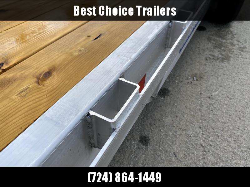 2021 Sure-Trac 7x18' Aluminum Wood Deck Car Hauler 7000# GVW * REAR SLIDE OUT RAMPS * REMOVABLE FENDERS * SEALED WIRING HARNESS * STAKE POCKETS/RUBRAIL * 4' EXTRUDED DOVETAIL * ALUMINUM WHEELS * SPARE TIRE MOUNT