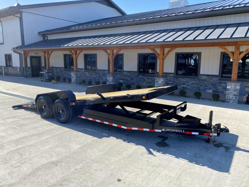 2021 Ironbull 7x20 Power Tilt Equipment Trailer 14000# GVW * 12K HYDRAULIC JACK * LOW LOADING ANGLE * POWER TILT * WINCH PLATE * DEXTER TORSION AXLES * REMOVABLE FENDERS * RUBRAIL/STAKE POCKETS/PIPE SPOOLS/D-RINGS * 2-3-2 WARRANTY