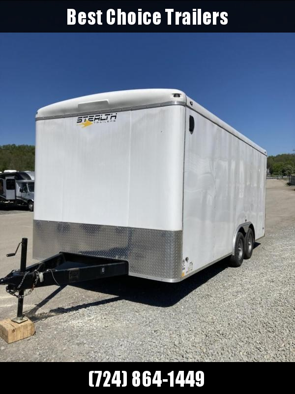 USED 2019 Stealth Trailers 8.5x18' Enclosed Cargo Trailer 7000# GVW * SEMI-SCREWLESS * ONE PIECE ROOF * ROUND TOP