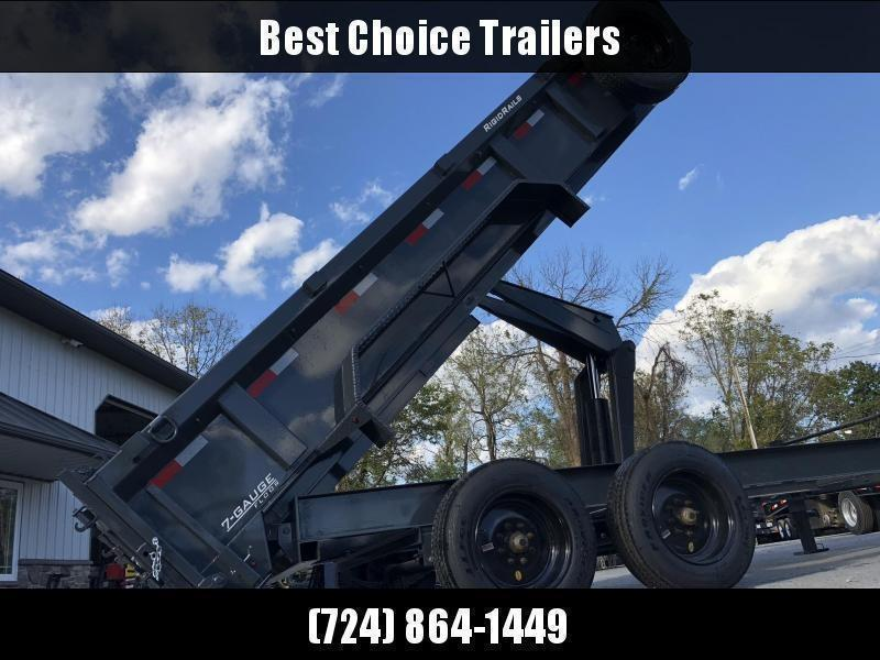 "2021 Lamar 7x16' Dump Trailer 16000# GVW * DEXTER 8K AXLE UPGRADE * OVERSIZE 6X21.5 11-TON SCISSOR HOIST * DUAL 12K JACKS * 7GA FLOOR * 17.5"" 16-PLY TIRES * SPARE TIRE * JACKSTANDS * TARP KIT * CHARCOAL * RIGID RAILS * NESTLED I-BEAM FRAME 28"" H * 12"" O.C"