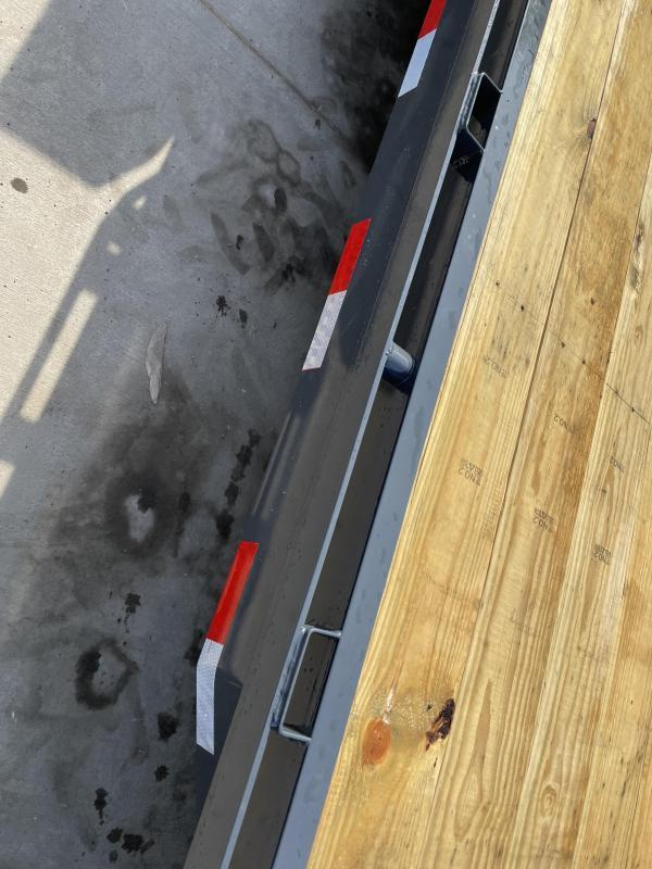 "2021 Lamar 7x22' Car Hauler Trailer 14000# GVW * CHARCOAL POWDERCOATING * 12K DROP LEG JACK * 16"" O.C. CHANNEL C/M * ADJUSTABLE CAST COUPLER * RUBRAIL/STAKE POCKETS/PIPE SPOOLS/D-RINGS * REAR JACKSTANDS"