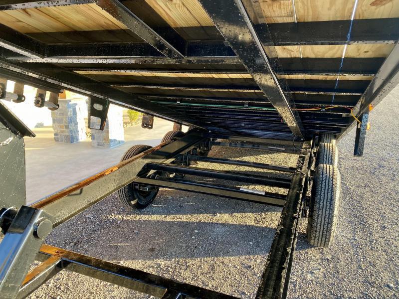 2021 Ironbull 102x30' Gooseneck Deckover Power Tilt Trailer 21000# GVW * DUAL JACKS * DEXTER TRIPLE AXLE * I-BEAM FRAME * RUBRAIL/STAKE POCKETS/PIPE SPOOLS/D-RINGS/BANJO EYES * I-BEAM BED RUNNERS