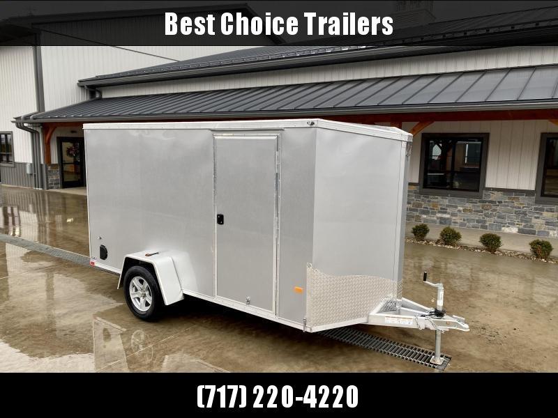 2021 Neo 6x12' NAVF Aluminum Enclosed Cargo Trailer * RAMP DOOR * SILVER * ALUMINUM WHEELS