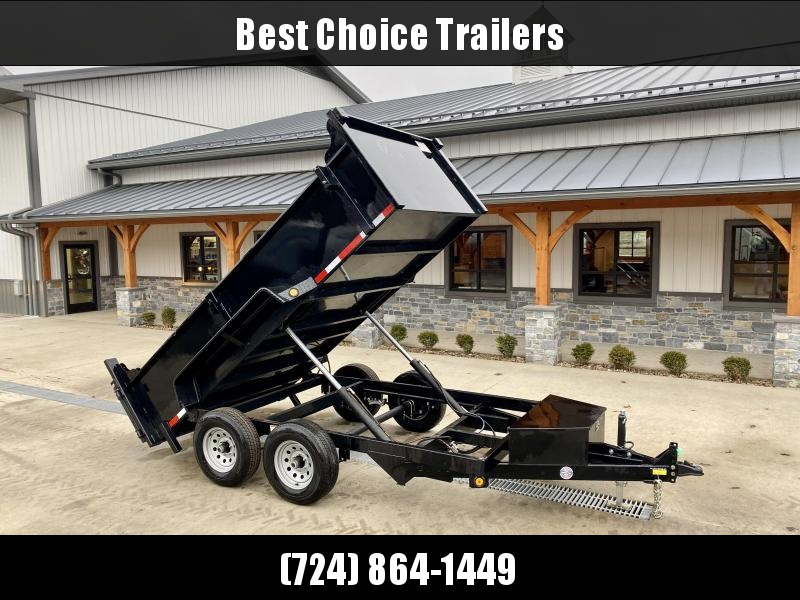 2021 QSA 6x12' Dump Trailer 9850# GVW * DUAL RAM HOIST * FRONT/REAR BULKHEAD * ADJUSTABLE COUPLER * DROP LEG JACK * OVERSIZED TOOLBOX * D-RINGS * BARN DOORS