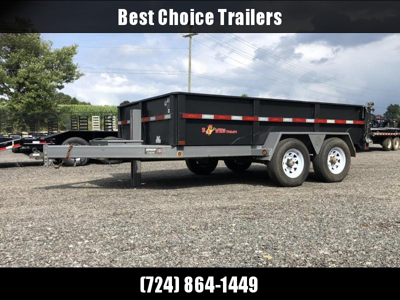 USED 2017 B-Wise 7x12' Dump Trailer * HYDRAULIC JACK * 2-TONE PAINT * 3-WAY GATE * UNDERMOUNT RAMPS * CHAIN TRAY