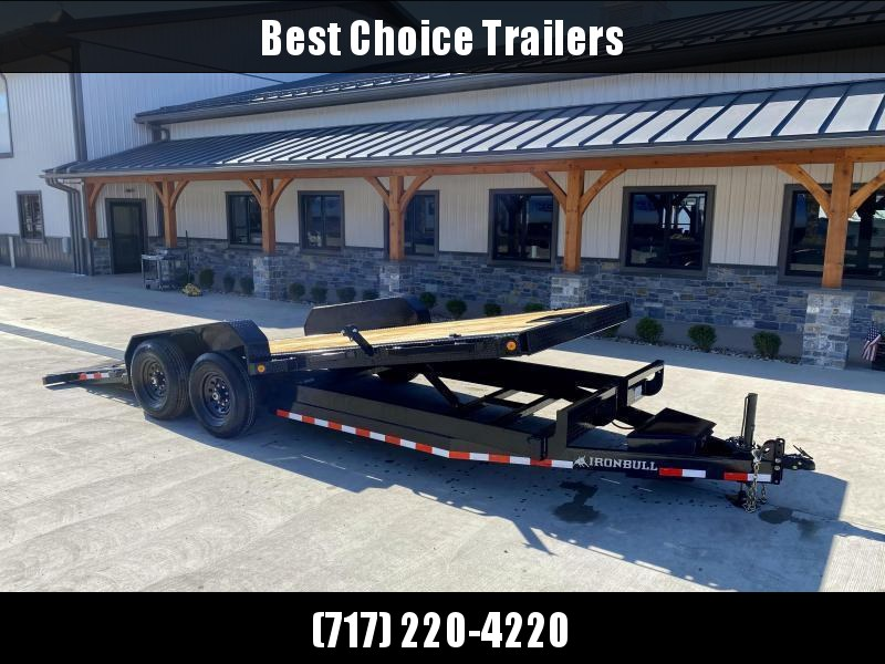 2021 Ironbull 7x20 Power Tilt Equipment Trailer 14000# GVW * HYDRAULIC JACK * LOW LOADING ANGLE * POWER TILT * WINCH PLATE * DEXTER TORSION AXLES * REMOVABLE FENDERS * RUBRAIL/STAKE POCKETS/PIPE SPOOLS/D-RINGS * IRONCLAD WARRANTY