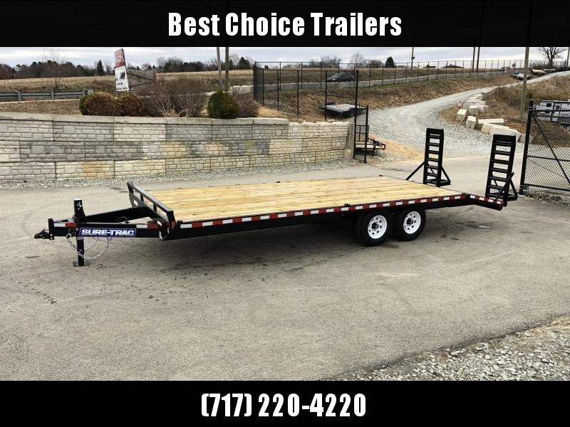 "2021 Sure-Trac 102x22 Beavertail Deckover Trailer 15000# GVW * HD 4"" CHANNEL STAND UP DELUXE RAMPS + SPRING ASSIST * 10"" I-BEAM MAINFRAME * CHANNEL SIDE RAIL * RUBRAIL/STAKE POCKETS/D-RINGS * ADJUSTABLE COUPLER * 12K DROP LEG JACK * LED'S"