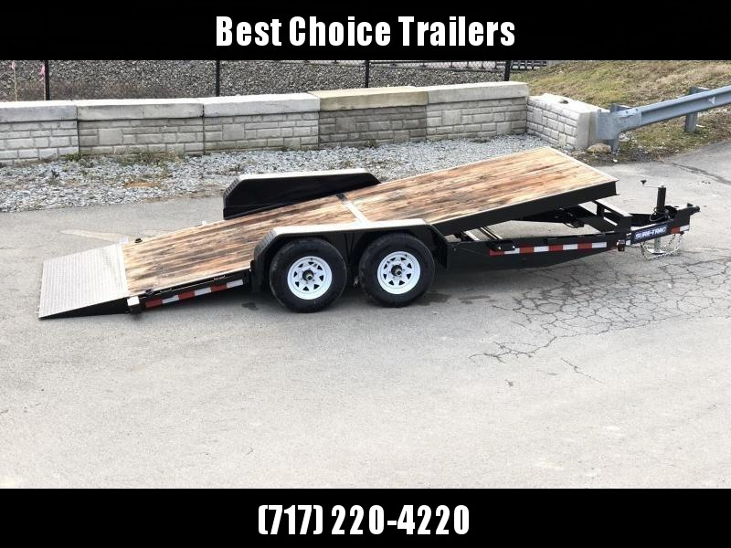 2020 Sure-Trac 7x18' Gravity Tilt Equipment Trailer 9900# GVW * DROP AXLES/LOW LOAD ANGLE * RUBRAIL/STAKE POCKETS/D-RINGS * HD FENDERS * SPARE MOUNT * SEALED HARNESS