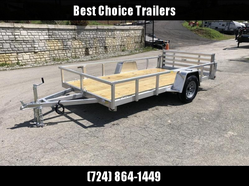 2021 QSA 6x12 Deluxe Aluminum Utility Trailer 2990# * DROP AXLES * HD TOPRAIL * BI-FOLD GATE * INTEGRATED FRAME * TUBE FRAME