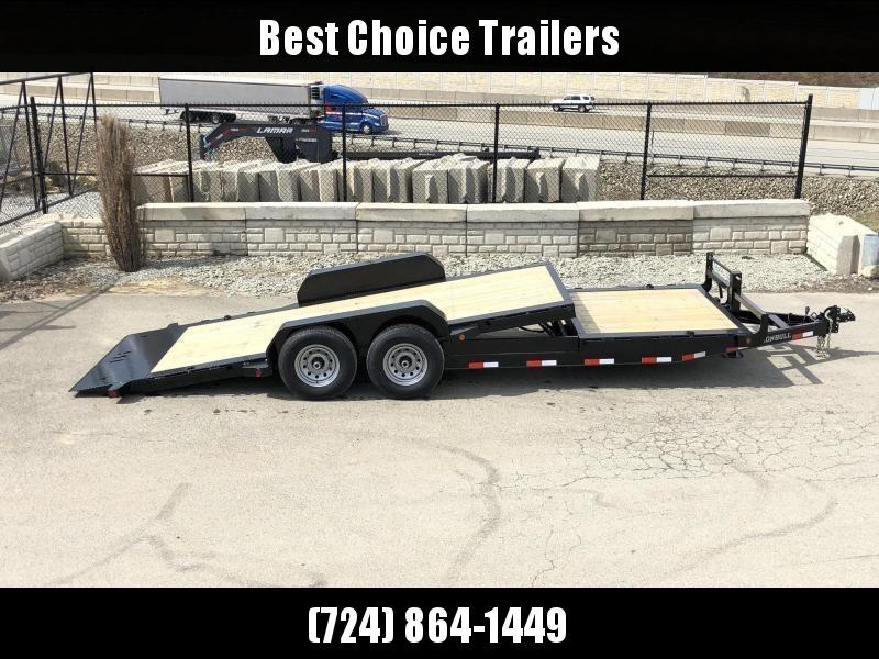 2021 Ironbull 7x16+8 Gravity Tilt Equipment Trailer 21000# TORSION * STOP VALVE * SUPER LOW LOAD ANGLE * TRIPLE AXLE