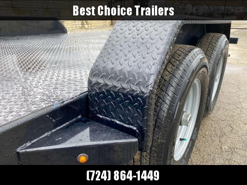 2020 Sure Trac 7x20' Power Tilt Car Trailer 9900# GVW * STEEL DECK UPGRADE * FREE ALUMINUM WHEEL UPGRADE * LOTS OF TIE DOWNS * REMOVABLE FENDER * POWER TILT
