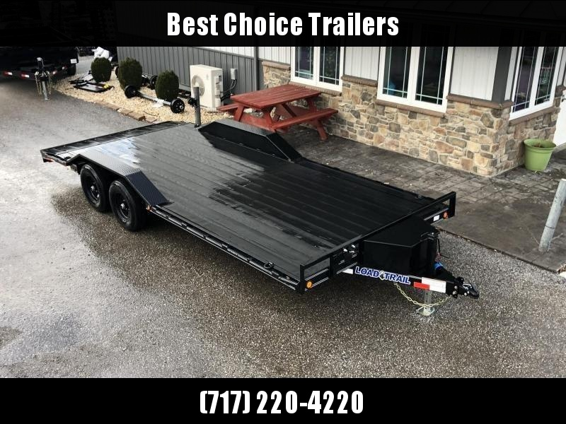 "2020 Load Trail 102x20' Car Hauler Trailer 9990# GVW * DEXTERS * BLACKWOOD PRO * TOOLBOX * POWDER PRIMER * BLACKOUT * 2-3-2 WARRANTY * CHANNEL C/M * 102"" DECK * DRIVE OVER FENDERS * ADJUSTABLE COUPLER * 7K JACK * RUBRAIL/STAKE POCKETS/D-RINGS"