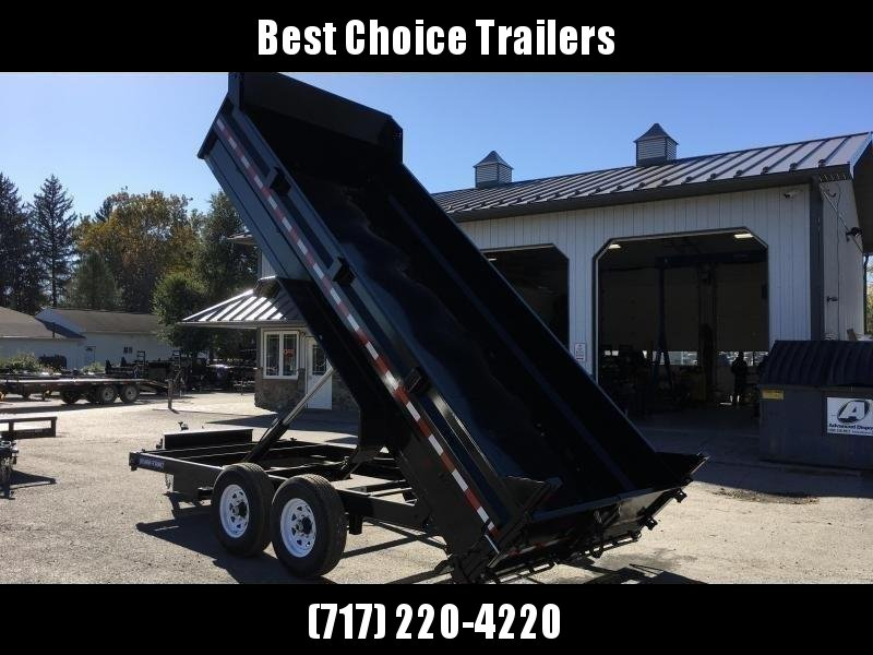 "2021 Sure-Trac 7x16' Dump Trailer 14000# GVW * OVERSIZE 6"" SCISSOR HOIST * FRONT/REAR BULKHEAD * INTEGRATED KEYWAY * 2' SIDES * UNDERBODY TOOL TRAY * ADJUSTABLE COUPLER * 110V CHARGER * UNDERMOUNT RAMPS * COMBO GATE * 7K JACK * SPARE MOUNT"
