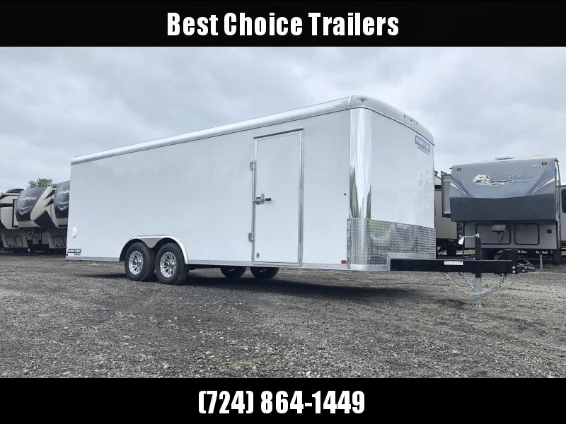 "2021 Sure-Trac 8.5x24' Landscape Pro Enclosed Trailer 9900# GVW * WHITE EXTERIOR * 2X6"" PLANK FLOOR * EXT TONGUE * 5200# TORSION * INTEGRATED KNIFE EDGE * STEEL WORKBENCH * ADJUSTABLE COUPLER * DROP LEG JACK * HD GUSSETS/REINFORCEMENTS"