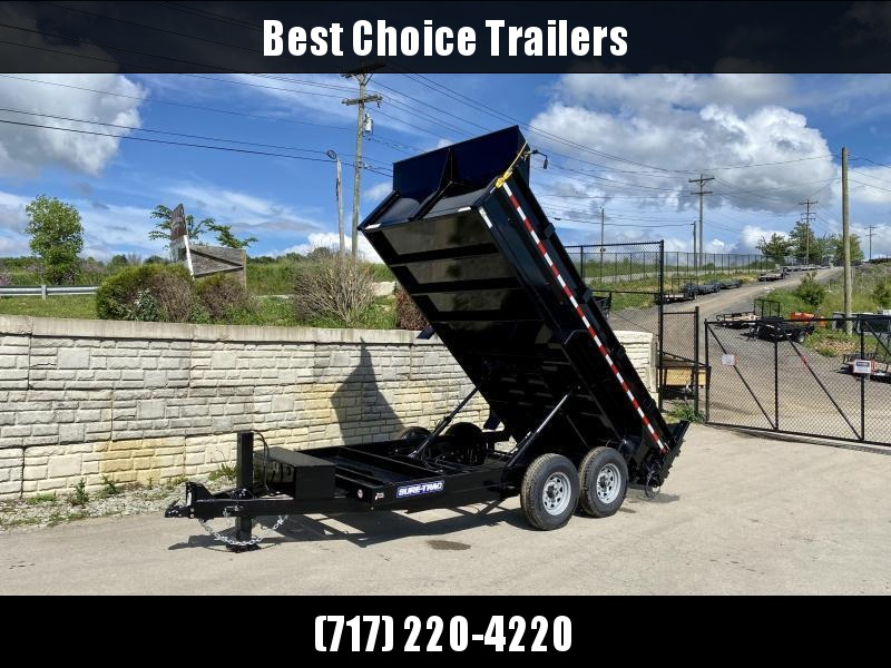 2021 Sure-Trac 7x14' Dump Trailer 14000# GVW * TARP KIT * 12K JACK * 7 GAUGE FLOOR * DUAL PISTON * FRONT/REAR BULKHEAD * INTEGRATED KEYWAY * 2' SIDES * UNDERBODY TOOL TRAY * ADJUSTABLE COUPLER * 110V CHARGER