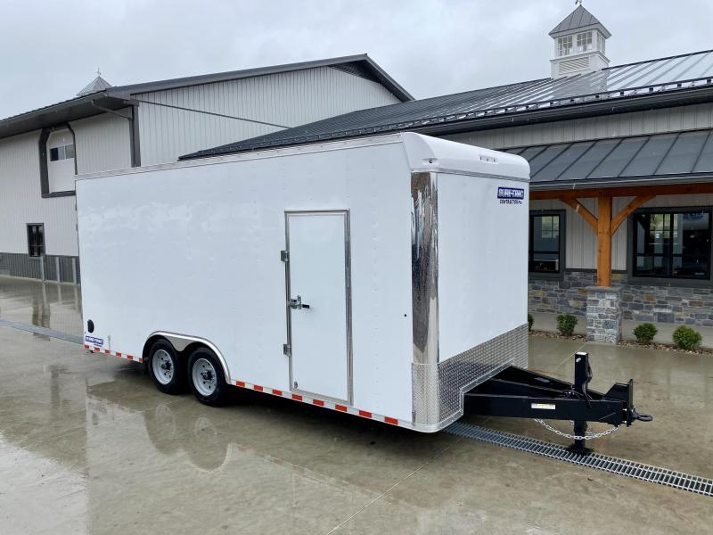 "2021 Sure-Trac 8.5x20' Enclosed Contractor Pro 16000# GVW * GEOPROBE TRAILER * DESIGNED FOR HAULING SKIDSTEER OR SIMILAR INSIDE * 8K AXLE UPGRADE * TORSION * STAND UP RAMPS * 17.5"" RUBBER * BACKUP LIGHTS * +18"" HEIGHT"