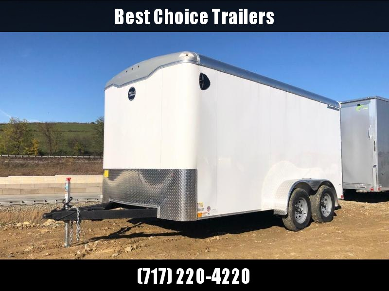 "2020 Wells Cargo 7x14' Road Force Commercial Enclosed Cargo Trailer 7000# GVW * WHITE EXTERIOR * CONTRACTOR PKG * RAMP DOOR * ROUND TOP * SCREWLESS .030 EXTERIOR * 6'6"" HEIGHT * TUBE STUDS * 1 PC ROOF * 16"" O.C. WALLS/FLOOR * RV DOOR * ARMOR GUARD * BULLE"