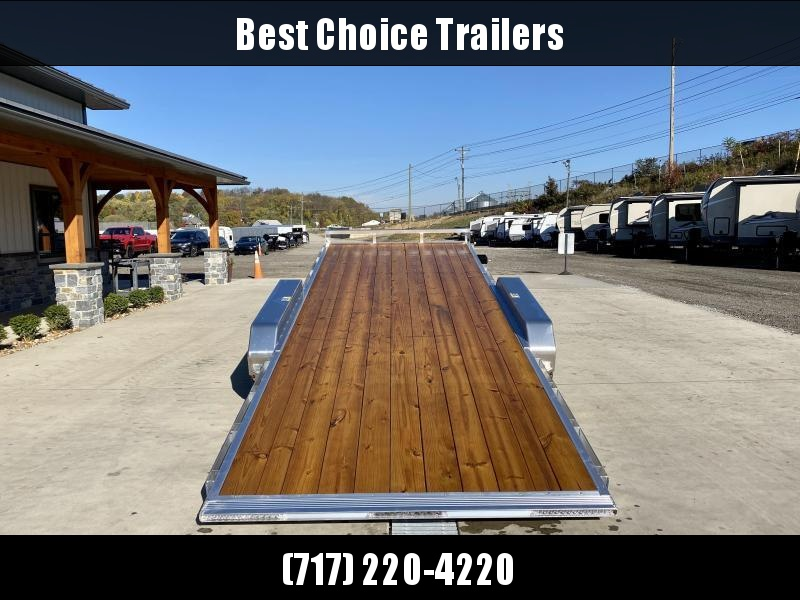 "2021 Sure Trac 7x20' Aluminum Power Tilt Car Hauler Trailer 9990# GVW * POWER TILT * ALUMINUM TOOLBOX * 8"" CHANNEL FRAME * REMOVABLE FENDERS * ALUMINUM WHEELS * DROP JACK"