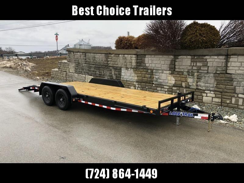 2021 Load Trail 7x24' Car Hauler Trailer 9990# GVW * 6@ FRAME * TOOLBOX * WINCH PLATE * 3' DOVE * 12K JACK * REAR JACKSTANDS * DEXTERS * POWDER PRIMER * REMOVABLE FENDERS
