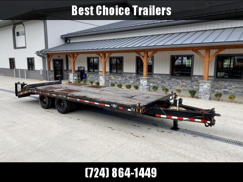 "USED Trail King 102x24' Air Brake Beavertail Deckover Trailer 47700# GVW * I-BEAM FRAME * OAK DECK * D-RINGS * DUAL 17.5"" 16 PLY TIRES"