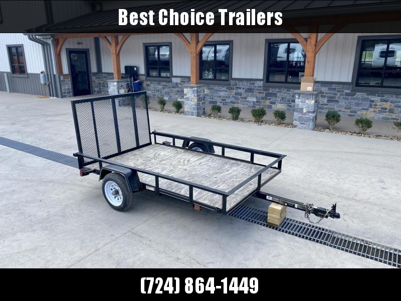 """USED 2018 Carry-On 5x8' Angle Iron Utility Landscape Trailer 2000# GVW * RAMP GATE * WOOD FLOOR * 1-7/8"""" BALL"""