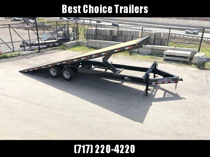 "2021 Load Trail 102x22' Deckover Power Tilt Trailer 14000# GVW * WINCH PLATE * GRAY * BLACKWOOD PRO * SCISSOR HOIST * 10""/12# I-BEAM MAINFRAME * 6""/12# I-BEAM BEDFRAME * SIDE TOOLBOX * CHAIN TRAY * DUAL JACKS * DEXTER'S * PRIMER * 2-3-2 WARRANTY"