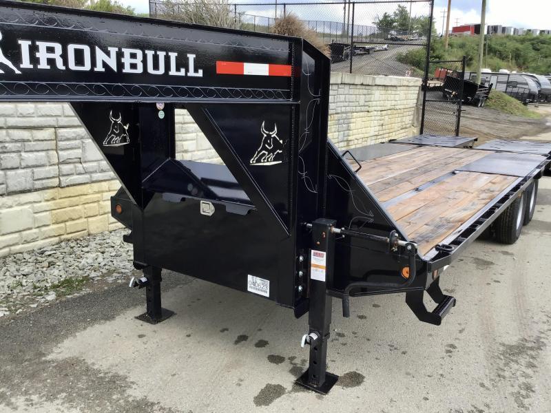 2021 Ironbull 102x24' Gooseneck Beavertail Deckover Trailer 24000# GVW * DEXTER 12K AXLES * FULL WIDTH RAMPS * PIERCED FRAME * SPARE TIRE * UNDER FRAME BRIDGE * RUBRAIL/STAKE POCKETS/PIPE SPOOLS/D-RINGS * DUAL JACKS