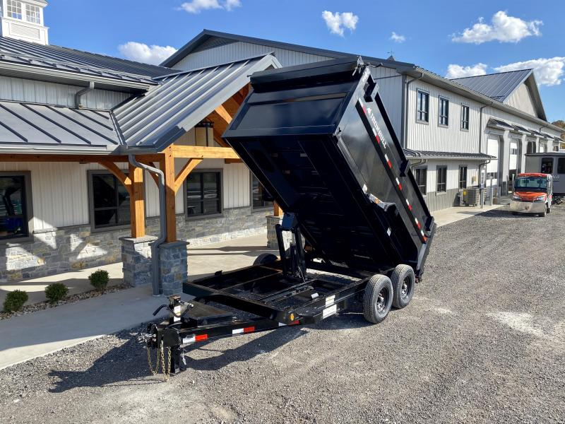 "2021 Ironbull 7x14' High Side Dump Trailer 14000# GVW * 12K JACK * 4' SIDES * 7GA FLOOR * TARP KIT * SCISSOR HOIST * STACKED I-BEAM FRAME * 6"" TUBE BEDFRAME * 10GA WALLS W/ KEYWAY * COMBO GATE * UNDERBODY BED RUNNERS * DEXTER AXLES * 2-3-2- WARRANTY"