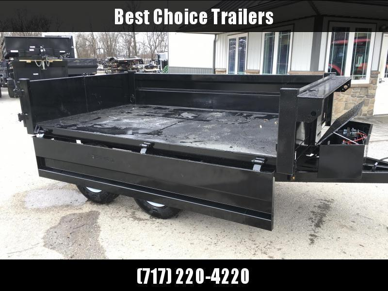 "2020 Sure Trac 6x10' Custom Deckover Dump Trailer 9900# GVW * 20"" FOLD DOWN SIDES * BARN DOORS * ADJUSTABLE COUPLER * DROP LEG JACK * 4"" TUBE BED FRAME * INTEGRATED KEYWAY * TARP PREP * D-RINGS * TRIPLE TUBE TONGUE * POWDERCOATED * SEALED HARNESS"