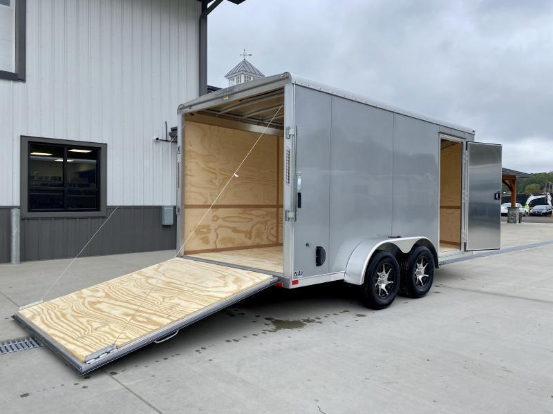 "2021 NEO 7x14' NAVR Aluminum Enclosed Cargo Trailer  * 7' HEIGHT UTV PKG * CHARCOAL * SIDE VENTS * ALUMINUM WHEELS * 16"" O.C. FLOOR UPGRADE * 16"" O.C. WALLS/CEILING * RAMP DOOR * 6'6"" HEIGHT * PRO STAB JACKS"