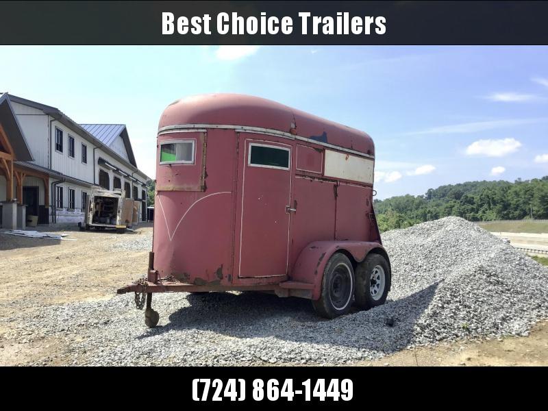 USED Stidham Trailers 6x10' 7000# GVW Horse/Livestock Trailer