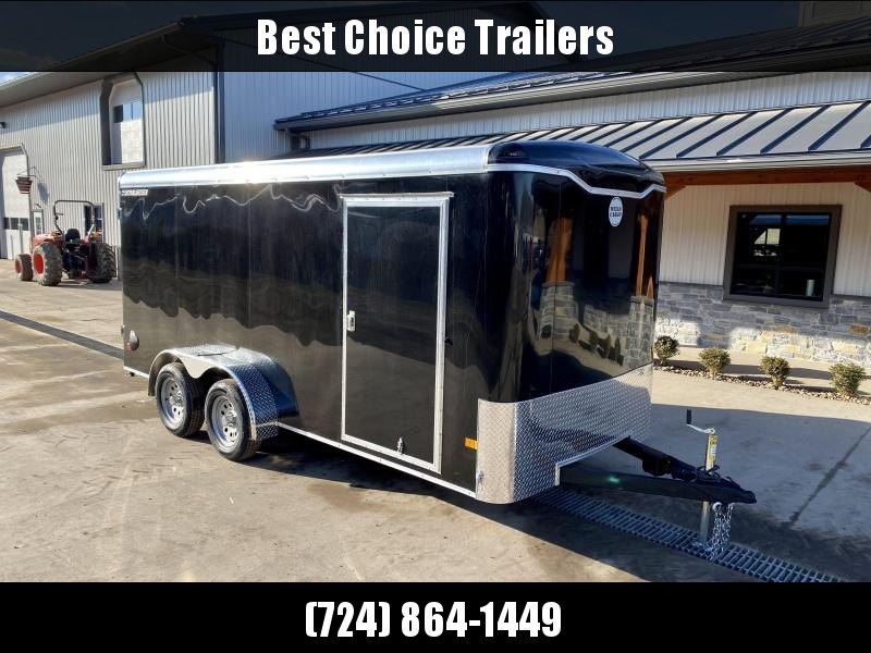 "2021 Wells Cargo 7x16' Enclosed Cargo Trailer 7000# GVW * BARN DOORS * BLACK EXTERIOR * REAR STAB JACKS * 3/4"" FLOOR * 16"" OC TUBE CROSSMEMBERS * 1-PIECE ROOF * 0.30 SCREWLESS EXTERIOR * D.O.T. LED LIGHTING"