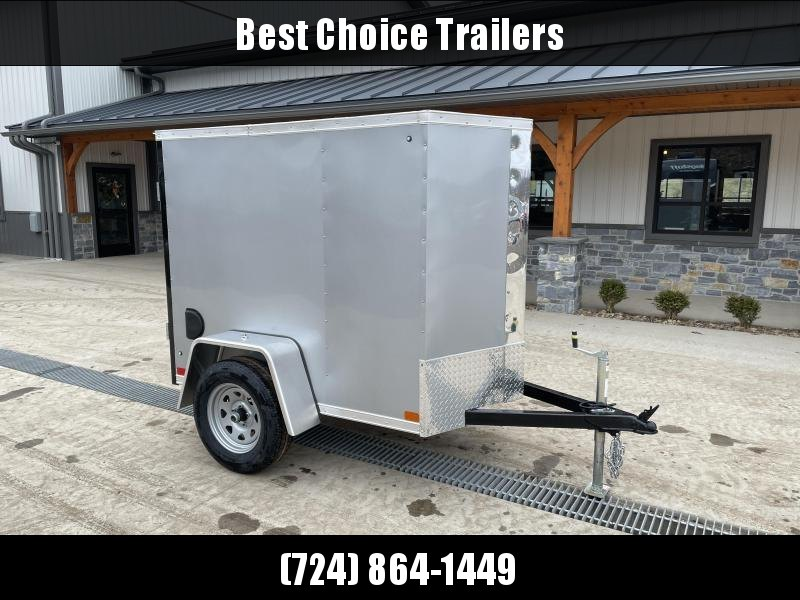 "2021 ITI Cargo 4x6' Enclosed Cargo Trailer 2990# GVW * SILVER EXTERIOR  * .030 SEMI-SCREWLESS * 1 PC ROOF * 3/8"" WALLS * 3/4"" FLOOR * 16"" STONEGUARD * HIGH GLOSS PAINTED FRAME"