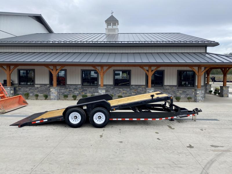 2022 Ironbull 7x20 Power Tilt Equipment Trailer 14000# GVW * HYDRAULIC JACK * LOW LOADING ANGLE * POWER TILT * WINCH PLATE * DEXTER TORSION AXLES * REMOVABLE FENDERS * RUBRAIL/STAKE POCKETS/PIPE SPOOLS/D-RINGS * IRONCLAD WARRANTY