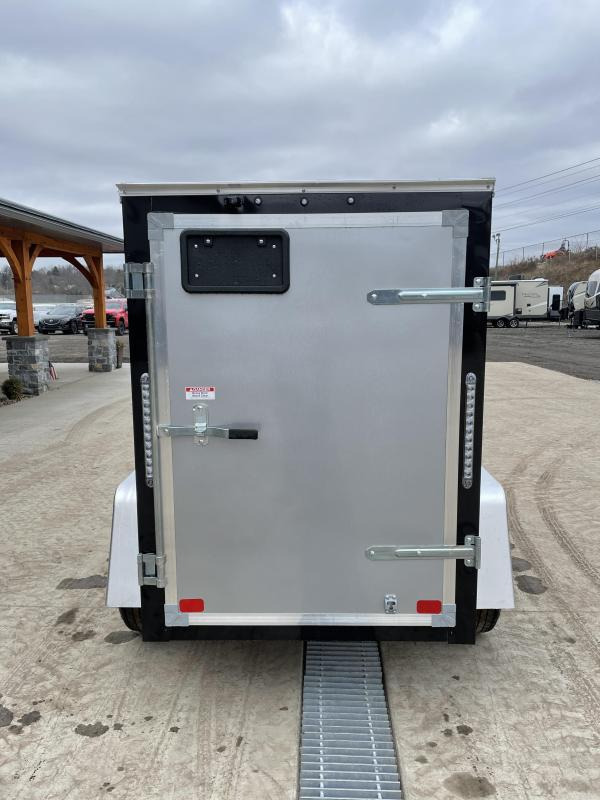"""2021 ITI Cargo 4x6' Enclosed Cargo Trailer 2990# GVW * CHARCOAL EXTERIOR  * .030 SEMI-SCREWLESS * 1 PC ROOF * 3/8"""" WALLS * 3/4"""" FLOOR * 16"""" STONEGUARD * HIGH GLOSS PAINTED FRAME"""