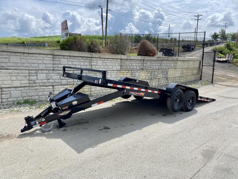 "2021 H&H 7x22' Power Tilt Car Hauler Trailer 14000# GVW * POWER TILT * D/S TOOLBOX * 6"" FRAME * DROP JACK * INTEGRATED TAIL LIGHTS * CHANNEL C/M"